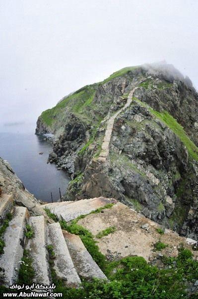 صور : الجزيرة المهجورة في بحر اليابان