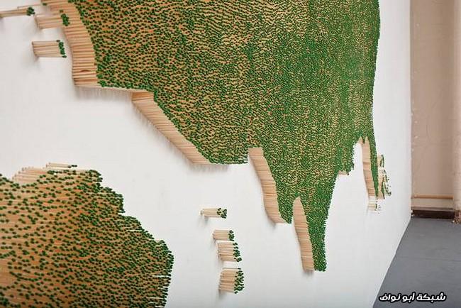 خريطة بأعواد الثقاب