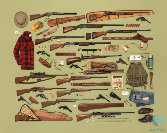 مجموعات من أسلحة الصيد
