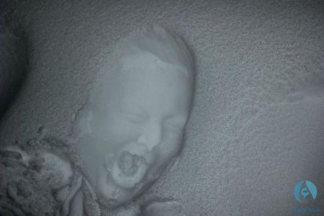 طباعة الوجه في الثلج